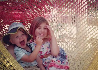 Kids in Climbing Net