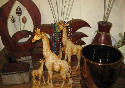 Giraffes wooden