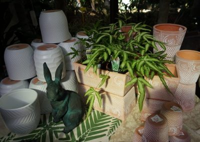 Pots with rabbit JIW