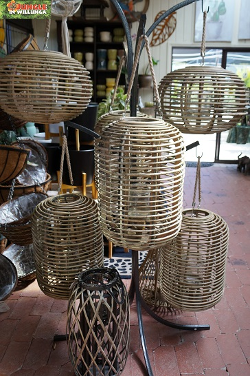 Woven candle holders